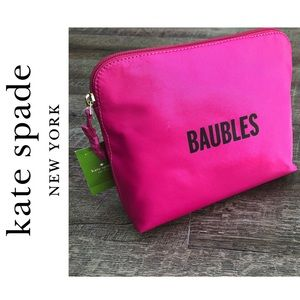Kate Spade {Baubles} Hot Pink Travel Bag 🎀